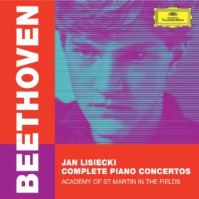 Album cover art for Jan Lisiecki Beethoven Piano Concertos cycle